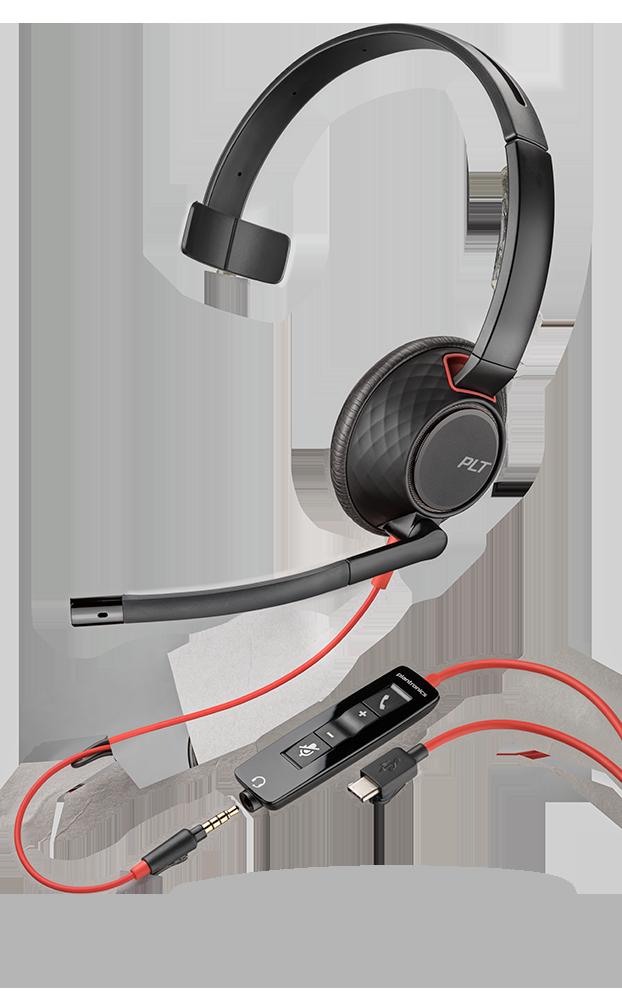 Headset Plantronics Blackwire 5220-5200 Series 207576-01