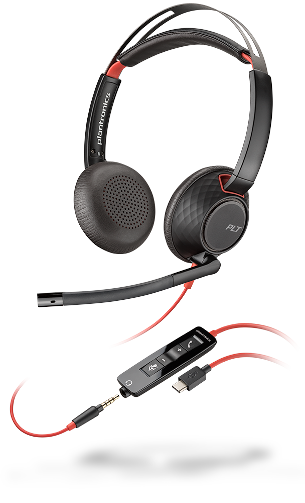 On-Ear Mono Headset Wired Plantronics Blackwire 5220 USB-C Headset