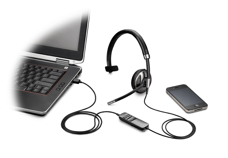 Plantronics Savi W740 DECT, Centro de llamadas//Oficina, Monoaural, gancho de oreja, Negro, Inal/ámbrico Auriculares con micr/ófono