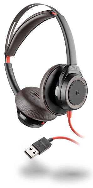 Plantronics Blackwire C725 Wired Headset PC Active Noise Canceling Headphone