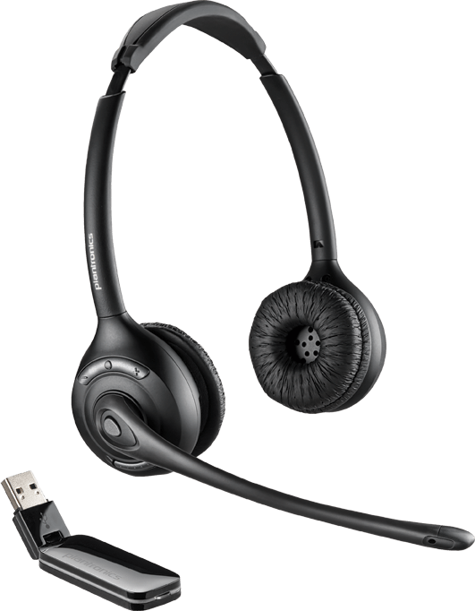 Plantronics Savi W420-M Microsoft Optimized Stereo Wireless Headset for PC /& Mac