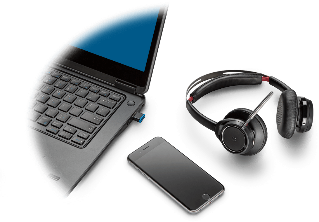 bd799668b1b Voyager Focus UC, Stereo Bluetooth headset with Active Noise Canceling  (ANC) | Plantronics